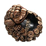 Ashtray soot ornaments home living room stone animal (Color : Gold, Size : 1718cm)