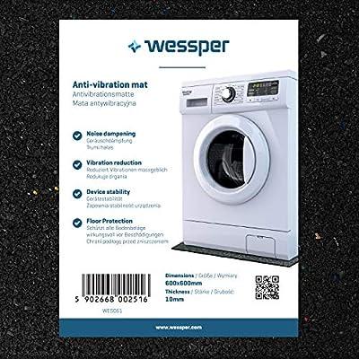 Wessper Estera de la Lavadora para Bosch WOT24551OE (60 x 60 x 1cm ...