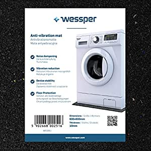 Wessper Estera de la Lavadora para Whirlpool AWT 5088/4 (60 x 60 x ...