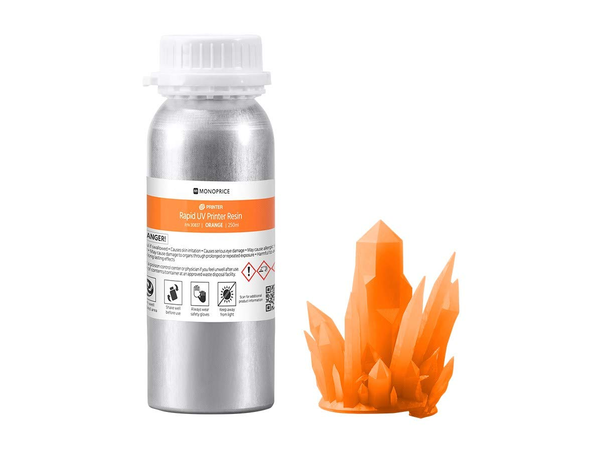 Monoprice Rapid UV 3D Printer Resin 250ml