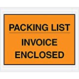Boxes Fast BFPL417 Packing List/Invoice Enclosed Envelopes, Load Capacity, 4.5'' Length, 5width, Thick, Orange (Pack of 1000)