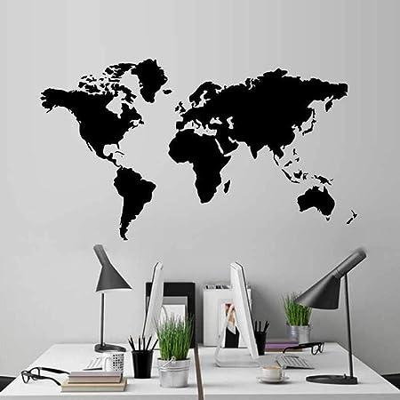 Cxtijkerw Mapa del Mundo Pegatinas de Pared Sala de Estar Dormitorio habitación de niños decoración de Pared para niños Material de Vinilo Desmontable no tóxico 60x105cm: Amazon.es: Hogar