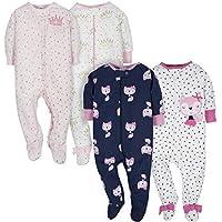 4-Pack Gerber Baby Girls' Sleep N' Play