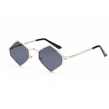 Gaddrt - Gafas de Sol con Marco de Metal Hexagonal Integrado ...
