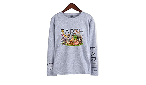 Printed Long-Sleeved T-Shirt,Digital Print Couple Comfort Sweatshirts Exercise Fitness and Tights Sports Lil Dicky Earth