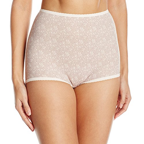 Bali Women's Skimp Skamp Brief Panty Pink Chic Lace Print 11