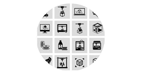 alfombrilla de ratón Iconos de la impresora 3D fijada: Amazon.es ...
