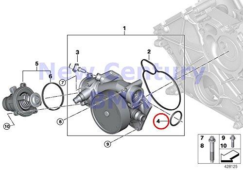 BMW Genuine Engine Cooling Intermediate Shaft O-Ring 37.0X4.0MM X5 M X5 50iX X6 50iX X6 M Hybrid X6 750i 750iX ALPINA B7 ALPINA B7X 750i 750iX ALPINA B7 ALPINA B7X 750Li 750LiX ALPINA B7L ALPINA B7LX