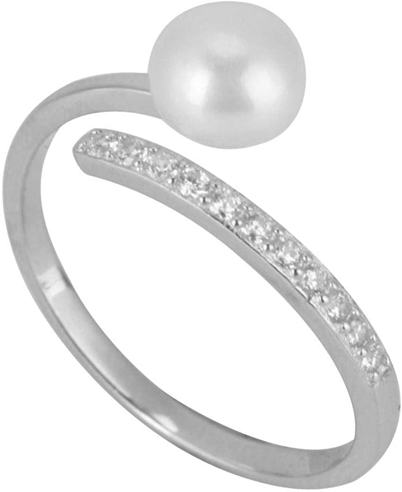 Betued Anillo de Plata de Ley, s925 Anillo de Perlas de imitación para Terapia joyería, Accesorios, Regalo de cumpleaños