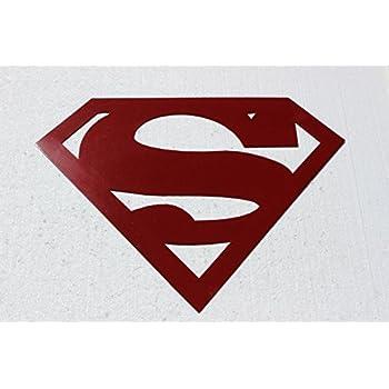 Amazon superman logo red large 2 ft metal wall art home kitchen superman logo red large 2 ft metal wall art voltagebd Choice Image