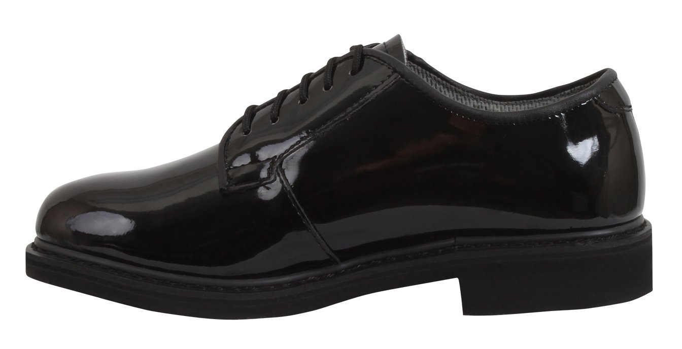 Rothco Uniform Oxford/Hi-Gloss Shoe, Black, 3