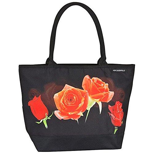 VON LILIENFELD Tasche mit Blumenmotiv - Rosenbouquet