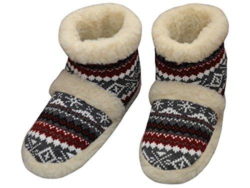 Bawal, Pantofole donna Rot-Grun 36/37