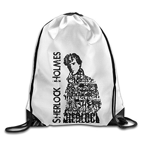 Bekey Sherlock Holmes Gym Drawstring Backpack Bags For Men & Women For Home Travel Storage Use Gym Traveling Shopping Sport Yoga (Costumes On Sims 3 Seasons)