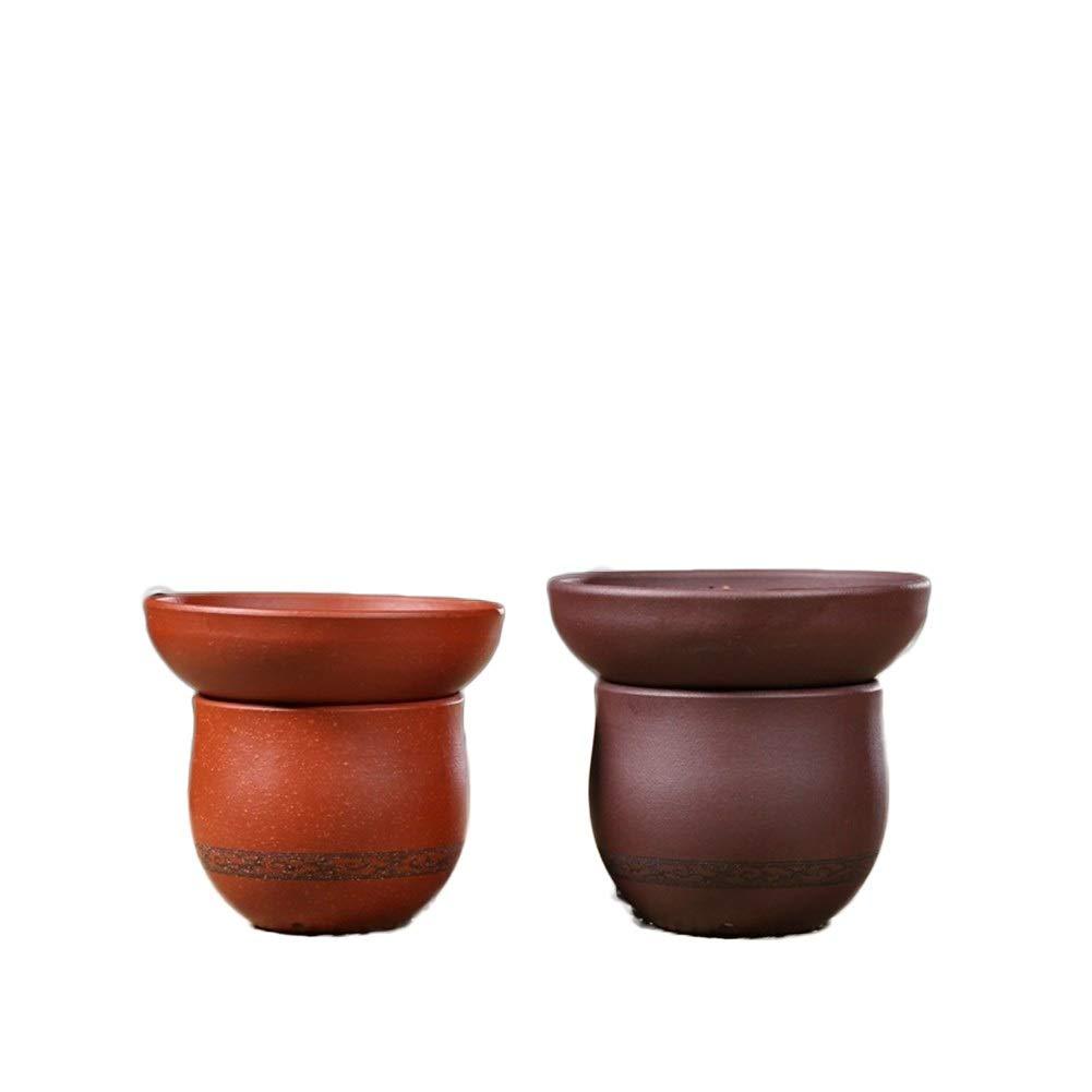MADONG Yixing Kungfu tea set tea ceremony tea leak purple sand filter tea tea filter painted pottery tea machine (Size : Purple mud) by MADONG