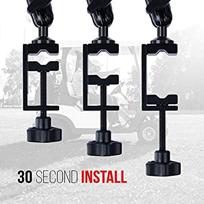 Enduro Golf Cart Mount for Phone and SkyCaddie SX500 - TACKFORM [Enduro Series] - Rock Solid All-Metal Holder for Phones and GPS up to 3.4