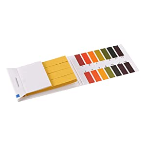 uxcell PH Test Strips 1-14 Indicator Paper Lab Litmus Tester 80in1 Kit for Water Food Pool Aquarium Testing Alkaline Acid