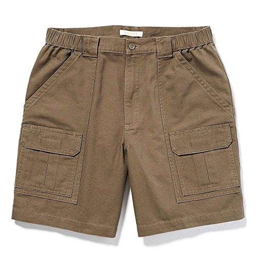 Savane Mens Comfort Hiking Cargo Shorts (40, Major Brown)
