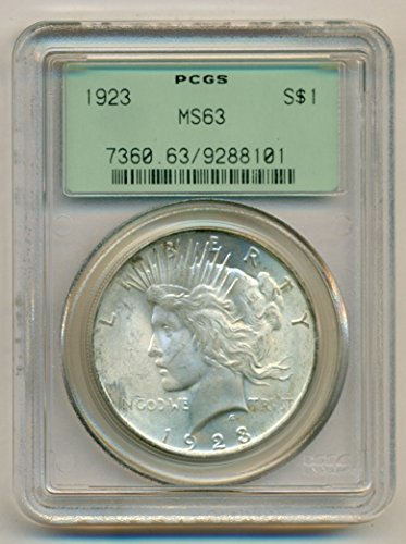 1923 Peace Silver Dollar MS63 PCGS OGH