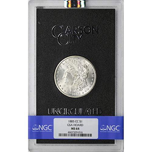 1885 CC Carson City Morgan Silver Dollar GSA $1 MS-64 NGC