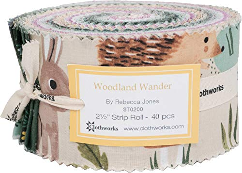 (Diane Neukirch Woodland Wander Strip Roll 40 2.5-inch Strips Jelly Roll Clothworks)
