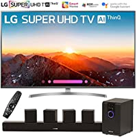LG 49SK8000PUA 49-Class 4K HDR Smart LED AI Super UHD TV w/ThinQ (2018 Model) with Sharper Image 5.1 Home Theater System w/Subwoofer, Sound Bar & Satellite Speakers