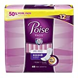 Poise Incontinence Pads, Long, 45 Count