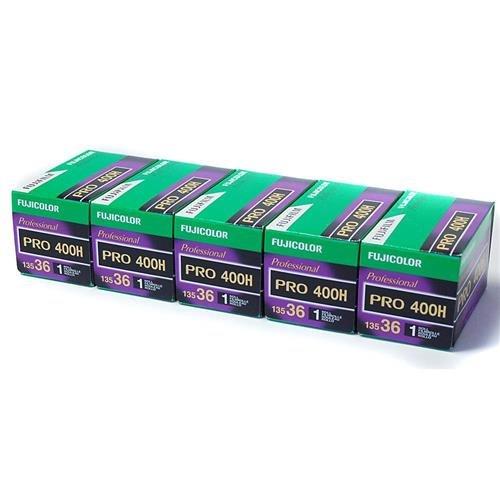 Fujifilm 15942186 Fujicolor Pro 400H Color Negative Film ISO 400, 35mm, 5 Rolls of 36 Exposures