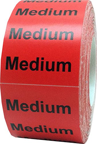 "1.25 x 5"" Apparel Medium Wrap Around Size Strip Labels for Folded Retail Clothing 
