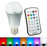 Coidak CO801-1 E27 12W 2.4G Wireless RGBW LED Light Color Changing Lamp Bulb AC 85-265V with Remote Controller RGB + White