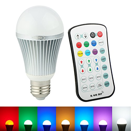 Coidak CO801-1 A19 12W 2.4G Wireless RGBW LED Light Color Changing Lamp Bulb with Remote Controller RGB + White (Red Light Bulbs Led compare prices)