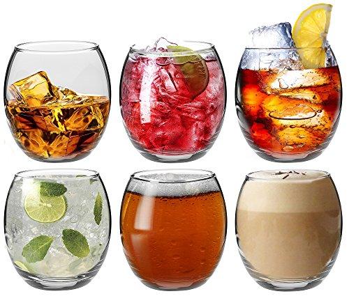 Argon Tableware Tondo Wassergläser / Saftgläser / Whiskygläser - 6er Geschenkset - 405ml