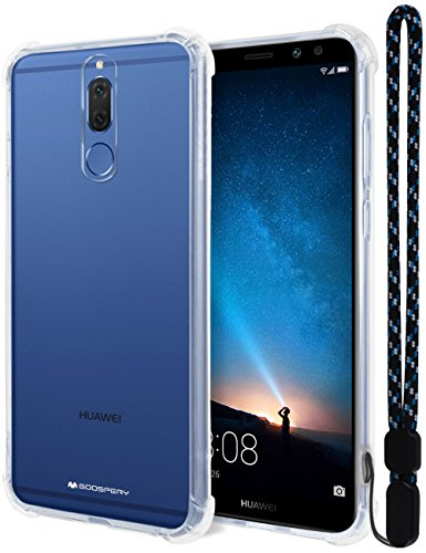 10 Lite Crystal - MERCURY Huawei Mate 10 Lite Case, [Air Cushion] Crystal Clear Hybrid [Protective TPU Cover & Hard PC Back] for Huawei Mate 10 Lite, HWMT10L-CCH
