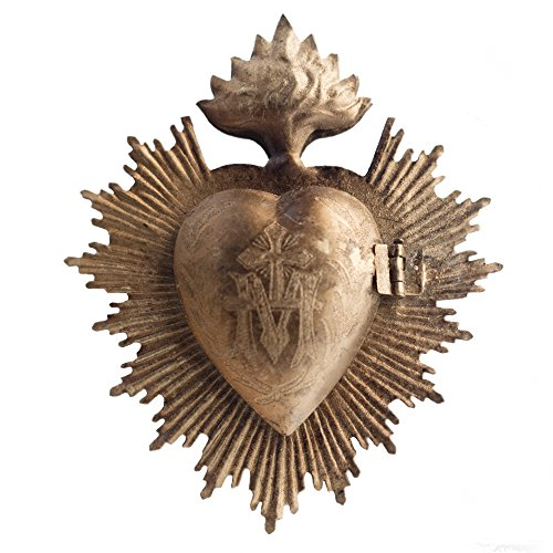 (Sacred Heart, Metal Heart Milagro, Gold Heart Box, Ex Voto)