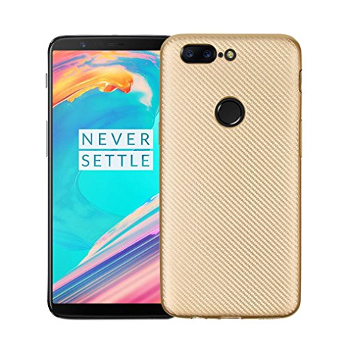 Price comparison product image Mchoice Hybrid Shockproof Hard Protective Case Cover For Oneplus 5T (Gold)