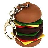 Kikkerland KRL35 Hamburger Keychain with Sound