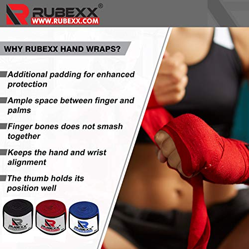 """Hand wraps boxing Inner Gloves for Punching - Great Protection for MMA, Muay Thai, Kickboxing, Martial Arts Training & Combat Sports – 180 """" inch Elasticated Bandages Under Mitts (Blue, Blue-180-inch)"""