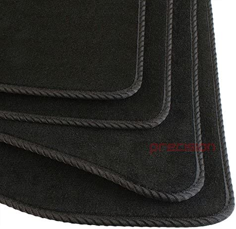 Precision Tailor Fitted Black Classic Car Mats with Black Twist for Ṿolkswagen Polo 2009-2017 PN.SSSA8