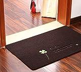 B&S FEEL Clover Bedroom Door Mats Doormat Carpet Kitchen Bathroom Non-slip Carpet Rug (Dark brown)