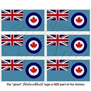 """Canadá Canadiense Bandera de Airforce rcaf 40mm (1,6"""") Mobile teléfono celular Mini de vinilo pegatinas, calcomanías x6"""