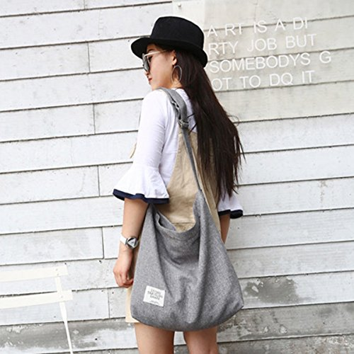 Canvas Shopping Casual Bag ZIIPOR Bag Shoulder Bag Hobo Women's Crossbody Bag Black FpIxwqzg5