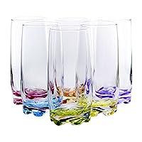 Vidrios de highball vibrantes de salpicaduras de agua /bebidas, 13.25 onzas - Juego de 6