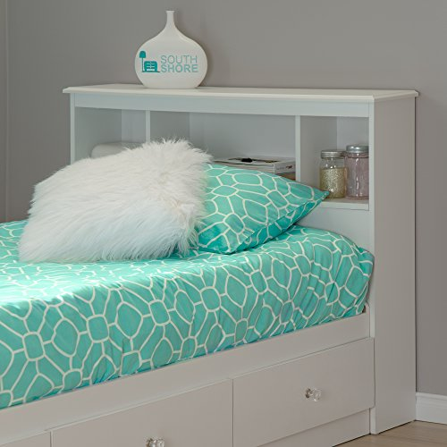 Buy Bargain South Shore Furniture, Crystal Collection, Bookcase Headboard 39, Pure White