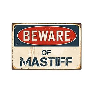 """StickerPirate Beware of Mastiff 1 8"""" x 12"""" Vintage Aluminum Retro Metal Sign VS272 11"""