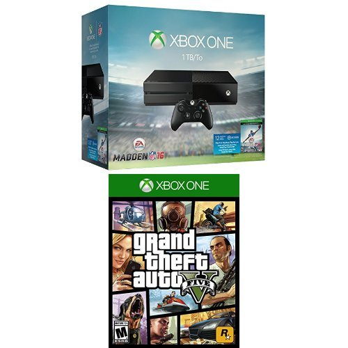 Xbox One 1TB Console - Madden NFL 16 Bundle + Grand Theft Auto V
