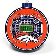 NFL Denver Broncos - Mile High Stadium 3D StadiumView Ornament3D StadiumView Ornament, Team Colors, Large