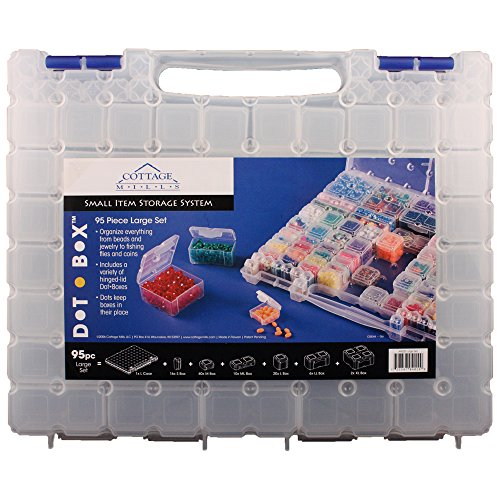 DotBox Large Set 95 pc from Cottage Mills. 94 storage boxes in a carrying case. It's the ultimate small item storage system. Perfect for bead, jewelry, craft and small part storage. by Cottage Mills