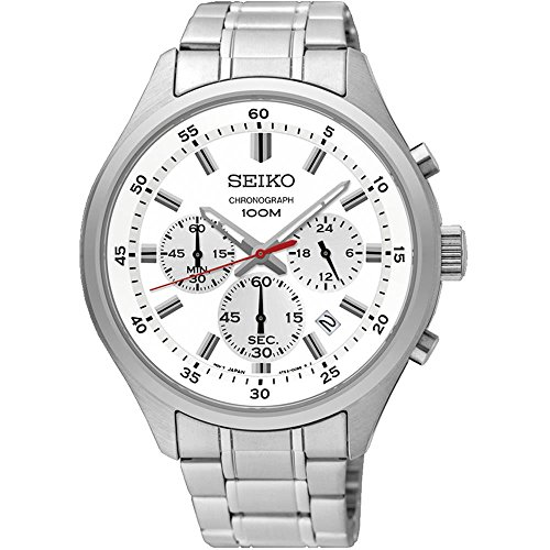 Seiko-Mens-43mm-Steel-Bracelet-Case-Hardlex-Crystal-Quartz-White-Dial-Analog-Watch-SKS583P1