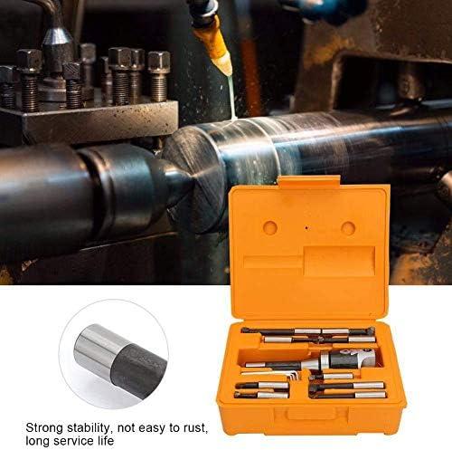 Naliovker 2 Inch Boring Head R8 Shank Holder Boring Head Set with 1/2 Inch Indexable Boring Bars 13 PCS Carbide Boring Head Tool Set