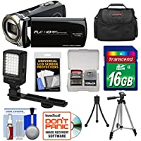 Bell & Howell DV12HDZ 1080p HD Video Camera Camcorder (Black) with 16GB Card + Case + Tripod + LED Video Light + Kit